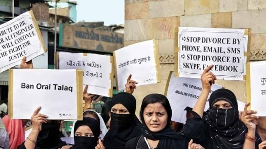 Protest by Indian Women Against Triple Talaq