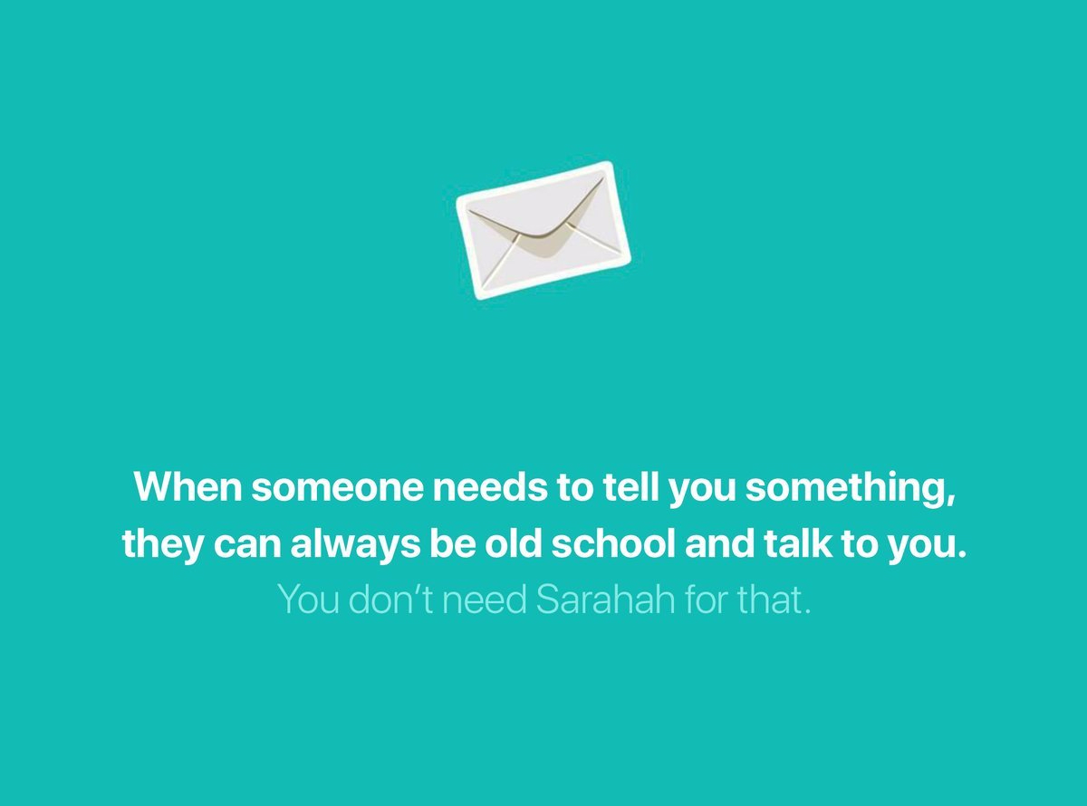 Why we don't need Sarahah