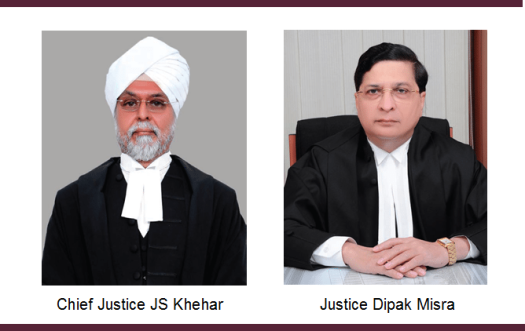 Justice Khehar and Justice Misra